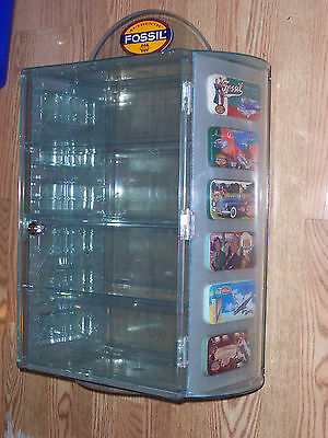 FOSSIL WATCH  Countertop Display Case w Tins Cabinet, Ca. 1994 Wristwatch