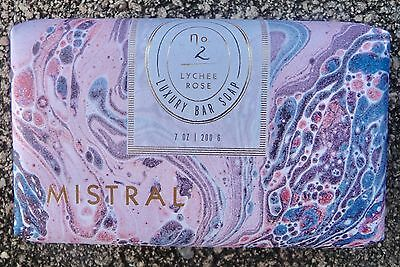 NEW Anthropologie Mistral Lychee Rose Luxury Organic Shea Butter Bar Soap 7oz