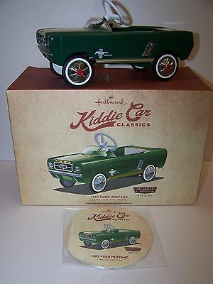 Hallmark Kiddie Car Classics 1965 Ford Mustang Pedal Car Limited Edition Repaint