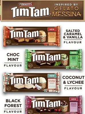 LIMITED EDITION 4x ARNOTTS TIM TAM GELATO MESSINA BISCUIT COOKIES AUSTRALIA FOOD
