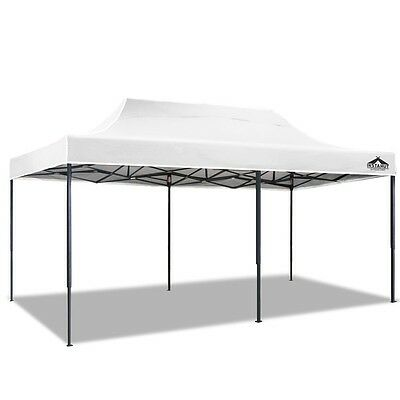 3m x 6m Outdoor Gazebo Folding Marquee Tent Canopy Pop Up Party Market White