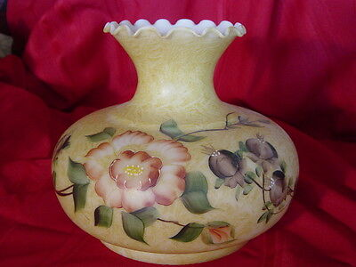 Antique Aladdin Beautiful Hand Painted Oil Lamp Shade