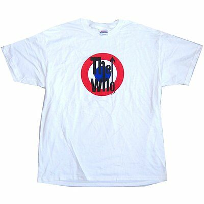 The Who Classic Mod Target Logo White T-Shirt Large New Licensed