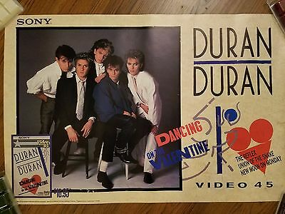 Duran Duran Poster Dancing on the Valentine VHS Promotional 1984 Video 45 20x30
