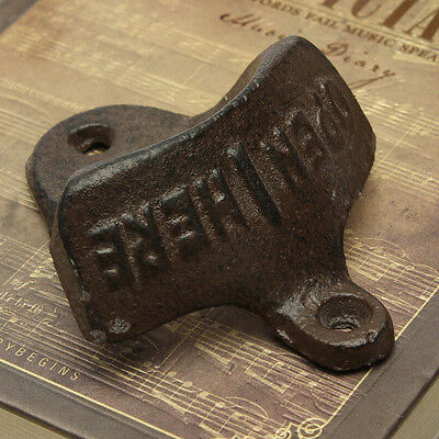 NEW Kitchen Vintage Antique Style Bar Pub Beer Top Bottle Cap Opener Wall Mount