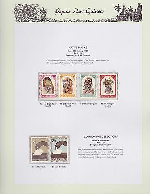 1964 PNG PAPUA NEW GUINEA Native Masks Common Roll Elections STAMP SET K-406