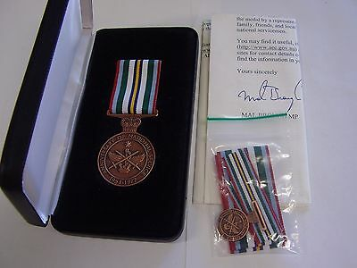 Genuine Named Anniversary National Service Medal 1951-1972 & Case With Miniature