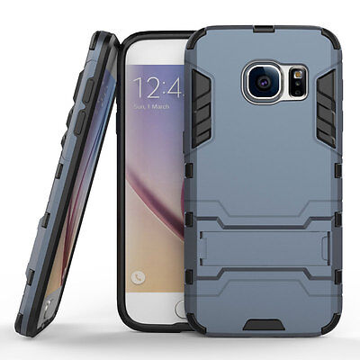 Armor Shockproof Hybrid Rugged Rubber Stand Case For Samsung Galaxy S7-  Navy