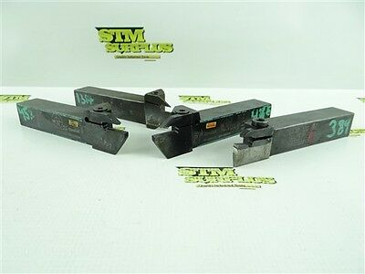 Lot Of 4 Indexable Face Grooving Tool Holders Seco Sandvik Iscar
