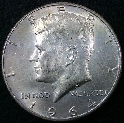 United States 1964 Half Dollar Silver Kennedy 50 Cents Coin .50C #1360