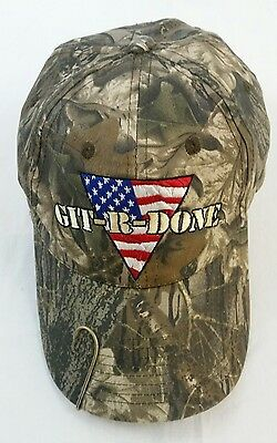 Git-R-Done Larry the Cable Guy Hat Camo Fish Hook Trucker Ball Cap