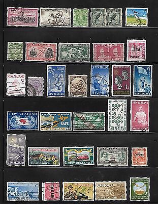 New Zealand Pre-decimal and Decimal 61 stamps off paper