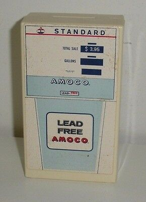 Standard / Amoco Gas Pump,Plastic Coin Bank