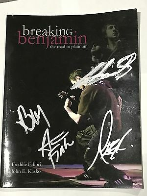 Breaking Benjamin The Road To Platinum Book Signed Autographed