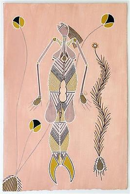 Water Spirit (Yawkyawk) Authentic Aboriginal Painting by Sylvaris Gumurdul