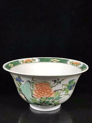 C1850-1899 Chinese Polychrome Bowl With Flowers and Birds