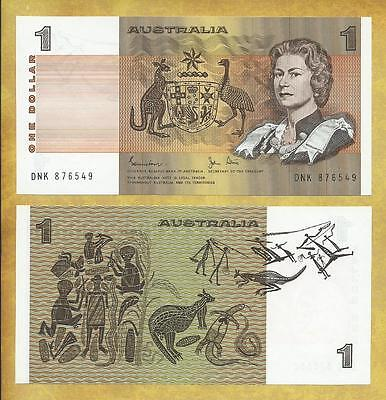 Australia 1 Dollar Prefix DNK Unc Currency Bill Banknote P-42d ***USA SELLER***