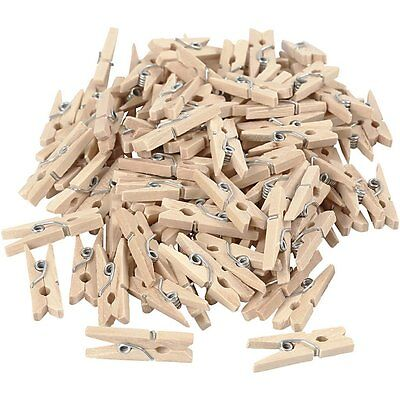 50/100pcs Mini Wooden Clips for Photo Clips Craft Decoration Clips