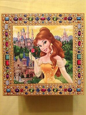 """Disney Parks Beauty and the Beast Princess Belle """"Musical"""" Jewelry Box (NEW)"""