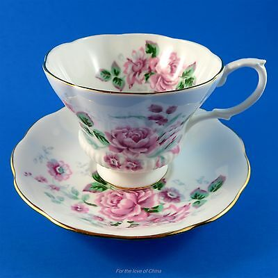 Royal Albert Pretty Pink Rose Bouquet Tea Cup and Saucer Set