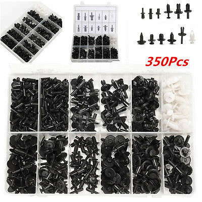 350pc Car Automotive Push Retainer Pin Rivet Trim Clip Panel Moulding Assortment