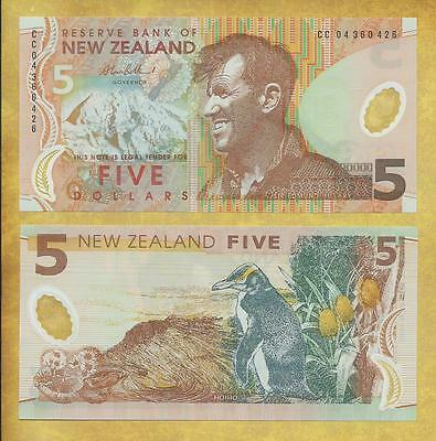 New Zealand 5 Dollars 2004 Prfx CC Unc Currency Banknote P-185b ***USA SELLER***