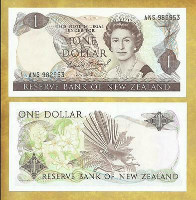 New Zealand 1 Dollar DT Brash ANS Unc Currency Banknote P-185b ***USA SELLER***