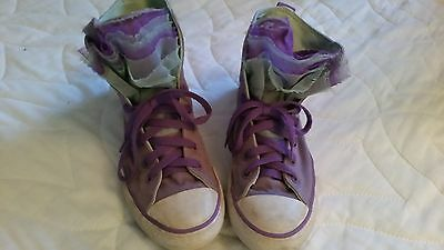 Converse lace up basketball style girls, US 4, lilac and mint.