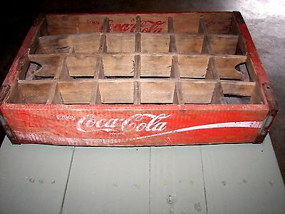 Coca Cola Bottle Crate Vintage Wooden Caddy Carrier Advertising 24 Slot 1972
