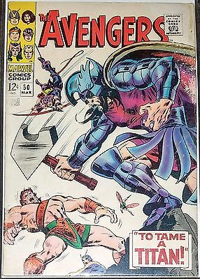 The Avengers #50 Hercules Hawkeye 12 Cents