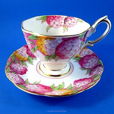 Royal Albert Handpainted Candytuft Tea Cup and Saucer Set