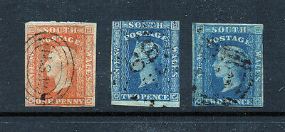 1856 Early used NSW imperf trio