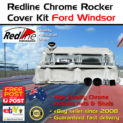 Ford Windsor Powered By Ford Valve Covers Chrome Falcon XR XT XW GS GT 289 302