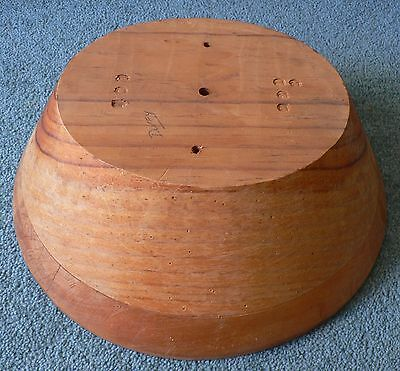Vintage Collectible Wooden Millinery Hat Wig Block Size 22.5