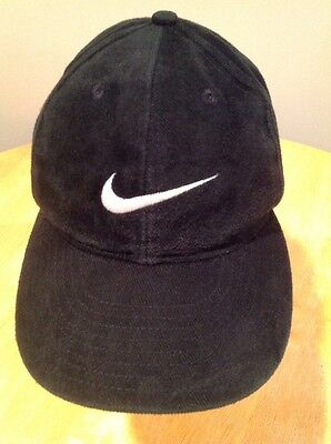 Nike Swoosh Adjustable Cap Hat Black One Size Fits All