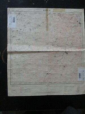 Hebron Area: Old  Topographical Map, 1:100000, Survey Of Palestine,1936. Vbok168