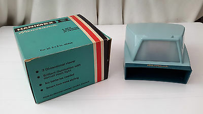 """Hanimex """"Hanorama"""" Slide Viewer (no batteries needed) for 2 x 2 slides boxed"""