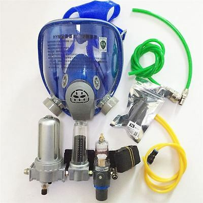 For Gas Paint Spray Fresh Air Fed Visor Full Face Breathing Mask Supplied Kit D