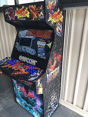 Arcade machine Street Fighter With 2TB Hyperspin Setup 30,000 Plus Games!!