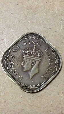 British India 2 Anna 1943 King George Vi