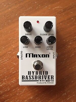 Maxon BD10 Hybrid Bass Driver Overdrive/Distortion Effect Pedal BARGAIN!