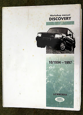 Landrover Discovery Workshop Manual 1995 to 1997