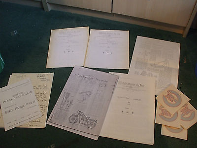 Ehrlich Motor Co EMC motorcycle Information bundle and photos transfers