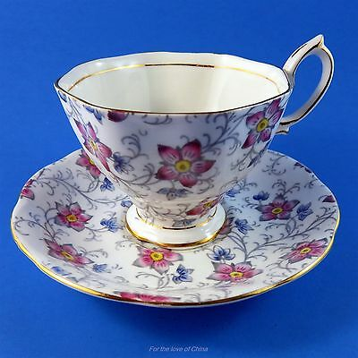 Royal Albert Handpainted Chintz Kendal Tea Cup and Saucer Set