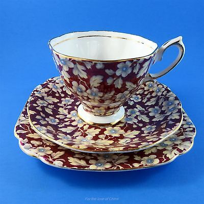 "Royal Albert Royal Brocade Chintz Tea Cup, Saucer and 6"" Plate Trio Set"
