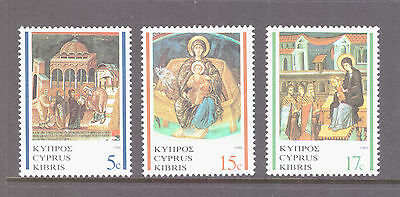 Cyprus 1988 Religion Art Icons Christmas  set mint MNH  stamps