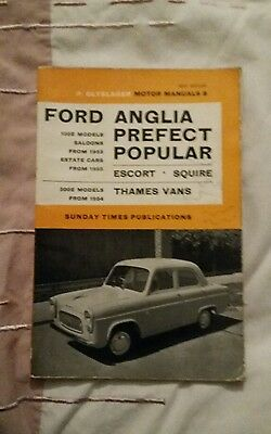 P Olyslager Motor Manuals. Ford Anglia Prefect Popular.