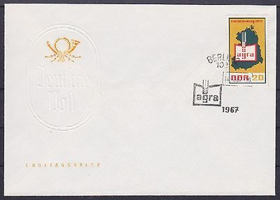 DDR FDC 1292 mit SST Berlin Agra 14.06.1967, first day cover