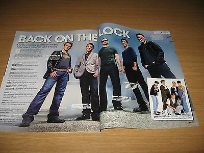 NEW KIDS ON THE BLOCK - Jordan Knight Donnie Wahlberg - 2 page magazine clipping