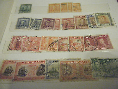 175  Various   New Zealand Stamps  ( Many Early )  All Used In Good Condition